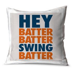 Baseball Throw Pillow Hey Batter Batter