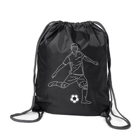 Soccer Sport Pack Cinch Sack - Soccer Guy Player Sketch