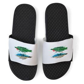 Fly Fishing White Slide Sandals - Stocked Up