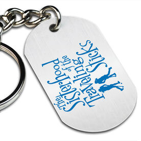 Sisterhood of the Traveling Sticks Printed Dog Tag Keychain