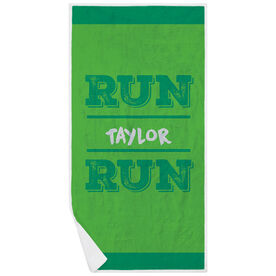 Running Premium Beach Towel - Run Your Name Run