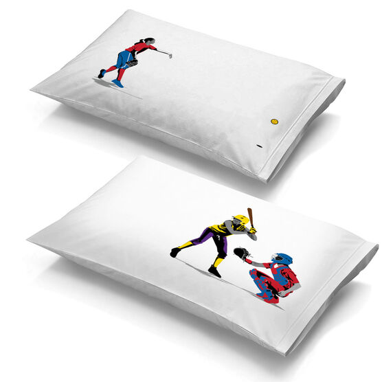 Softball Pillowcase Set - She Goes For The Home Run