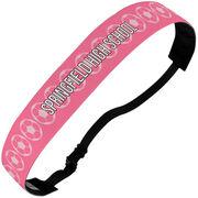 Soccer Juliband No-Slip Headband - Personalized Soccer Ball Stripe Pattern