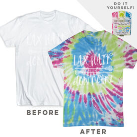 DIY Girls Lacrosse Lax Hair Don't Care - White Tee Ready for Tie-Dye