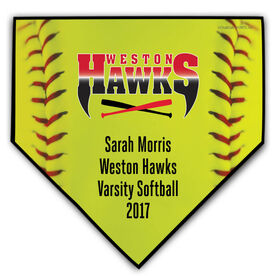Softball Your Logo Home Plate Plaque
