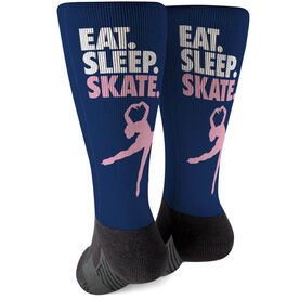 Figure Skating Printed Mid-Calf Socks - Eat Sleep Skate