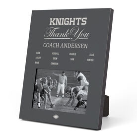 Football Photo Frame - Thank You Coach Roster