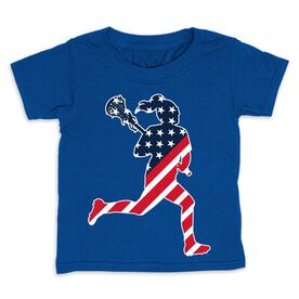 Girls Lacrosse Toddler Short Sleeve Tee - Play Lax for USA