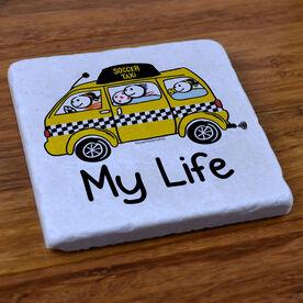 My Life Soccer Taxi - Stone Coaster