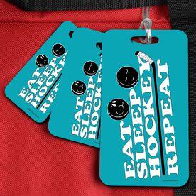 Hockey Bag/Luggage Tag Eat Sleep Hockey Repeat