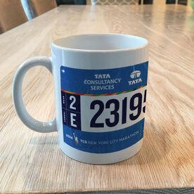 Running Coffee Mug - Your Race Bib On A Coffee Mug