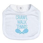 Tennis Baby Bib - Crawl Walk Tennis