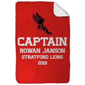 Cross Country Sherpa Fleece Blanket - Personalized Captain
