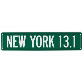 "Running Aluminum Room Sign - New York 13.1  (4""x18"")"