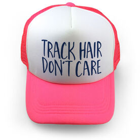 Track and Field Trucker Hat - Track Hair Don't Care