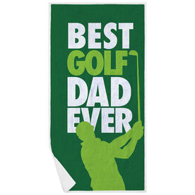 Golf Premium Beach Towel - Best Dad Ever