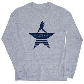 Softball Tshirt Long Sleeve - Make History