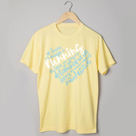 Running Short Sleeve Tee - Live Love Run Heart