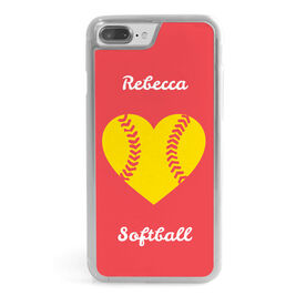 Softball iPhone® Case - Personalized Heart