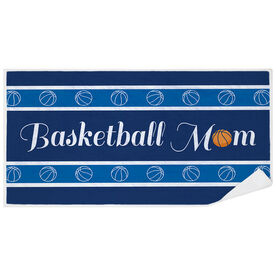 Basketball Premium Beach Towel - Mom Stripe