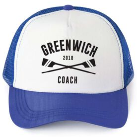 Crew Trucker Hat - Team Name Coach With Curved Text