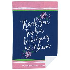 Personalized Teacher Premium Blanket - Bloom