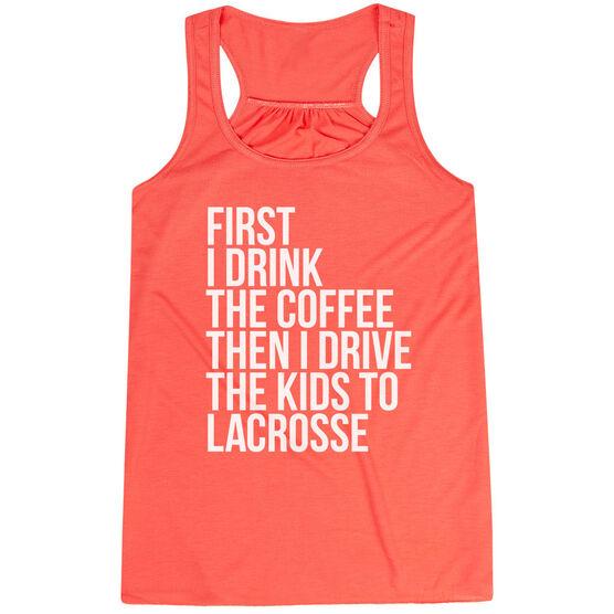 Lacrosse Flowy Racerback Tank Top - Then I Drive The Kids To Lacrosse