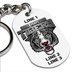 Custom Printed Dog Tag Keychains