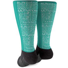 Running Printed Mid-Calf Socks - Running Motivation