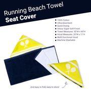 Tennis Beach Towel Seat Cover - Eat Sleep Tennis