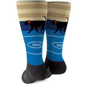 Wrestling Printed Mid-Calf Socks - Mat The Wrestling Dog
