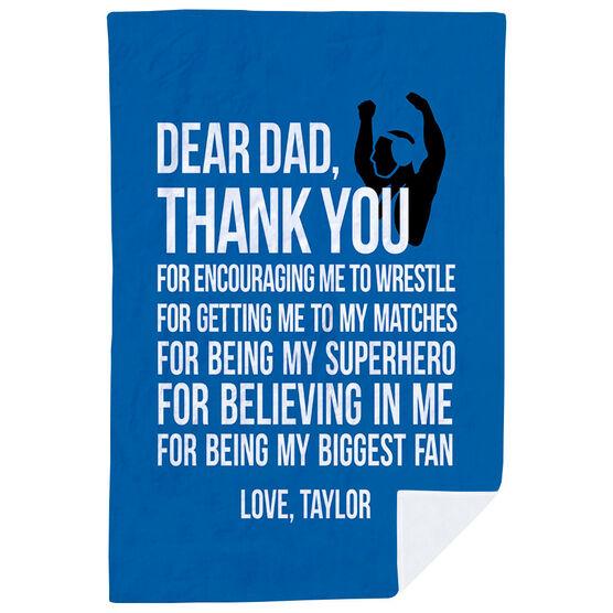 Wrestling Premium Blanket - Dear Dad