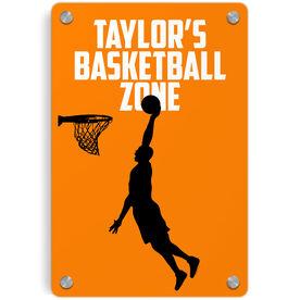 Basketball Metal Wall Art Panel - Personalized Basketball Zone Guy