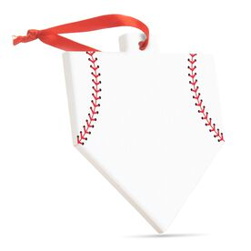 Baseball Home Plate Ceramic Ornament - Home Plate (Blank)