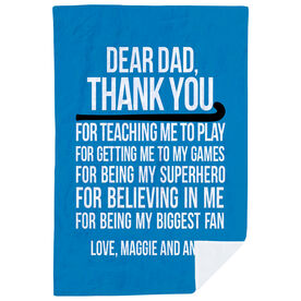Field Hockey Premium Blanket - Dear Dad