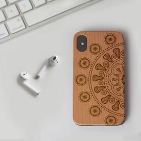 Girls Lacrosse Engraved Wood IPhone® Case - Lacrosse Mandala