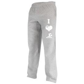 I Love Swimming (Symbols) Fleece Sweatpants