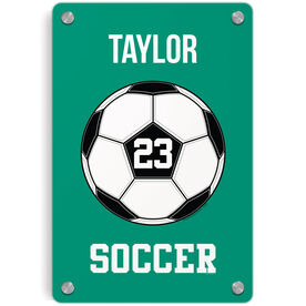 Soccer Metal Wall Art Panel - Personalized Soccer Ball