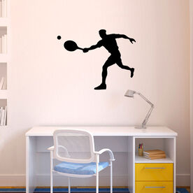 Guy Tennis Player Removable ChalkTalkGraphix Wall Decal