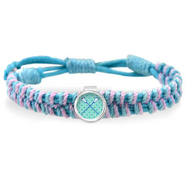 Lacrosse Crossed Girls Sticks Adjustable Woven SportSNAPS Bracelet