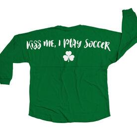 Soccer Statement Jersey Shirt Kiss Me I Play Soccer