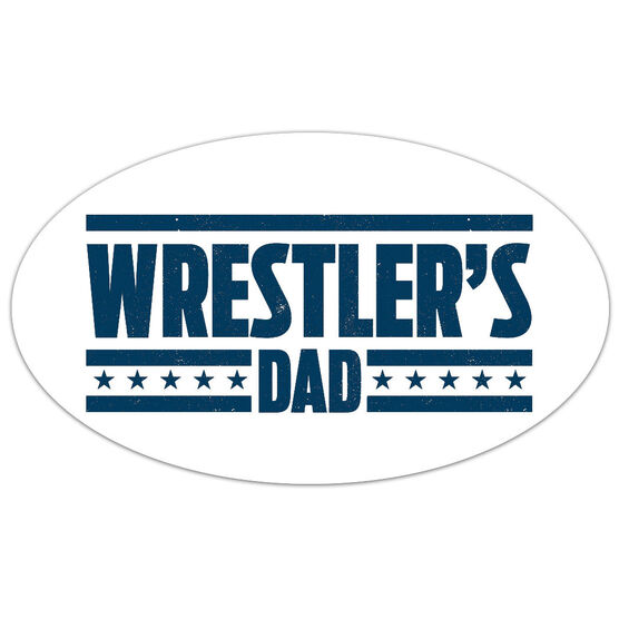 Wrestling Oval Car Magnet Wrestler's Dad