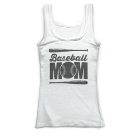 Baseball Vintage Fitted Tank Top - Baseball Mom
