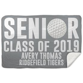 Golf Sherpa Fleece Blanket - Personalized Senior Class Of