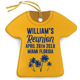 Personalized Porcelain Ornament - Family Reunion Tropical Shirt