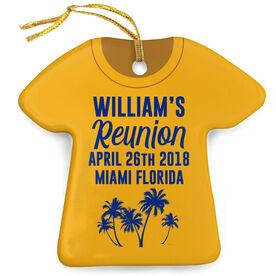 Personalized Porcelain Ornament - Family Reunion Tropical Shirt