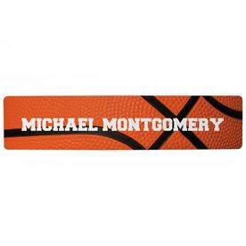 "Basketball Aluminum Room Sign - Your Name Basketball  (4""x18"")"