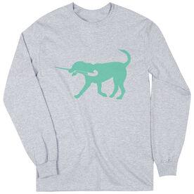Field Hockey Tshirt Long Sleeve Flick The Field Hockey Dog