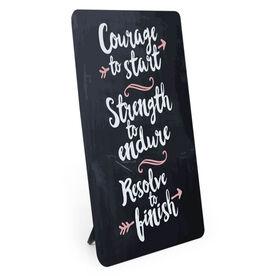 Running Desk Art - Courage To Start Chalkboard