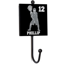 Guys Lacrosse Medal Hook - Goalie With Name and Number
